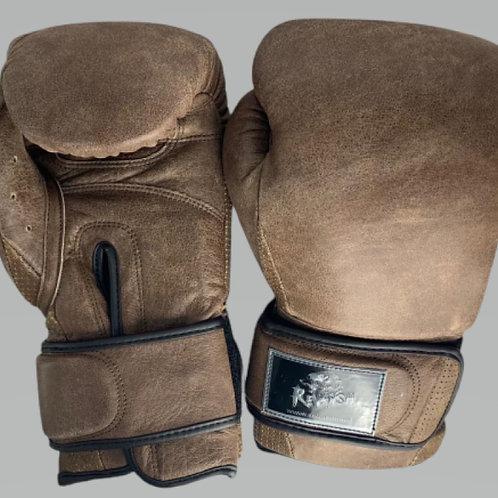 Боксерские перчатки REVANSH BGL004BN, коричневые Cracker, кожа