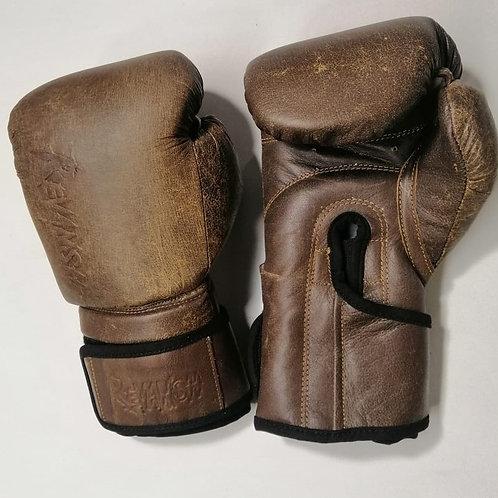 Боксерские перчатки RETRO, BGL020RTBR, коричневый, кожа натуральная