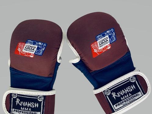 Перчатки союз мма России HYBRID, красно-синий, натуральная кожа