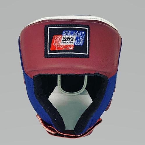 Шлем союз мма России HGL002RDBU, красно-синий, кожа