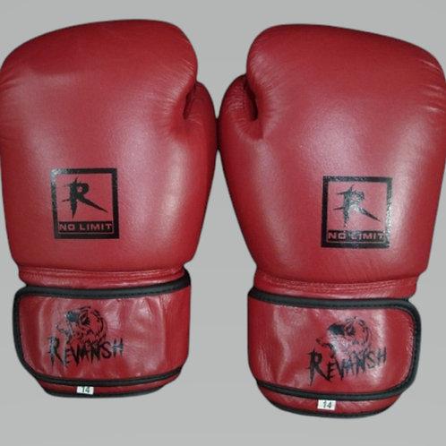 Боксерские перчатки REVANSH BGBFL013RD, красные, натуральная кожа