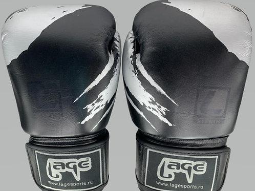 Боксерские перчатки LAGE BGL007BKGY, черно-серый, кожа