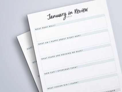 Free Month in Review Printable
