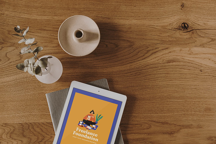 Freelance Foundation Worksheet on iPad