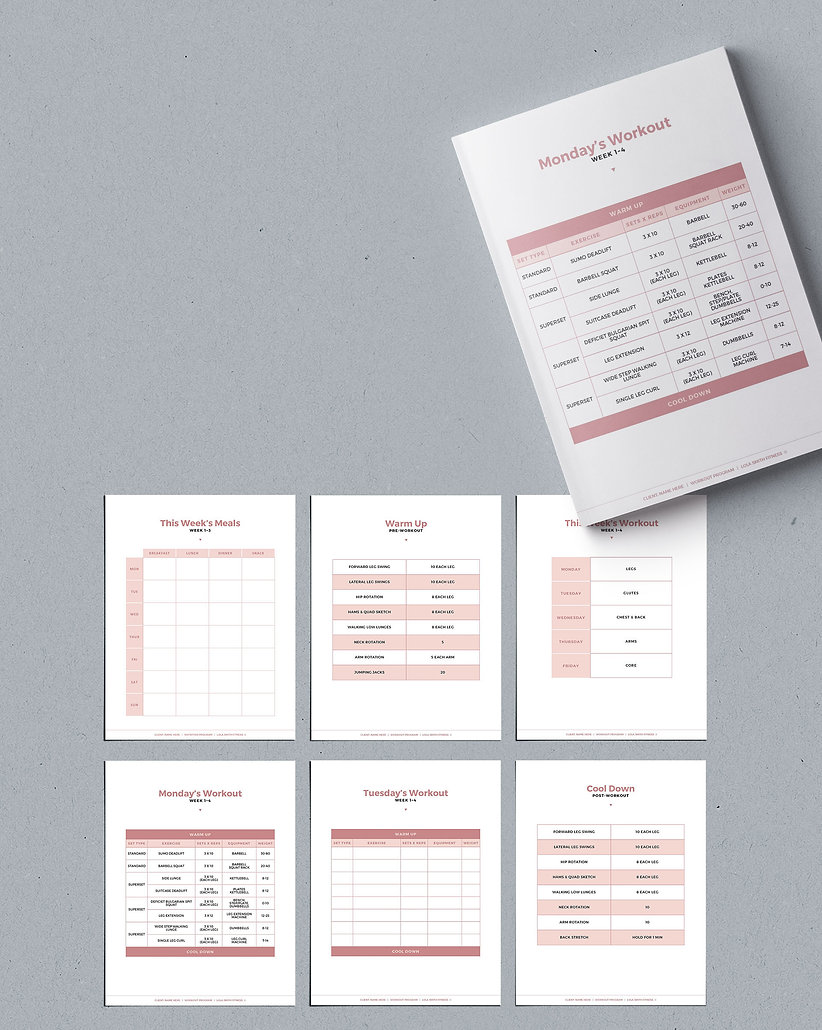 Meal Plan and Workout Plan Template