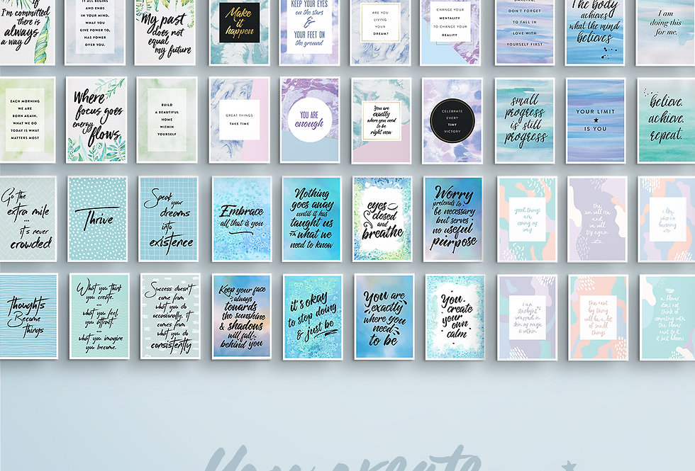Vision Board Quote Cards Complete Collection