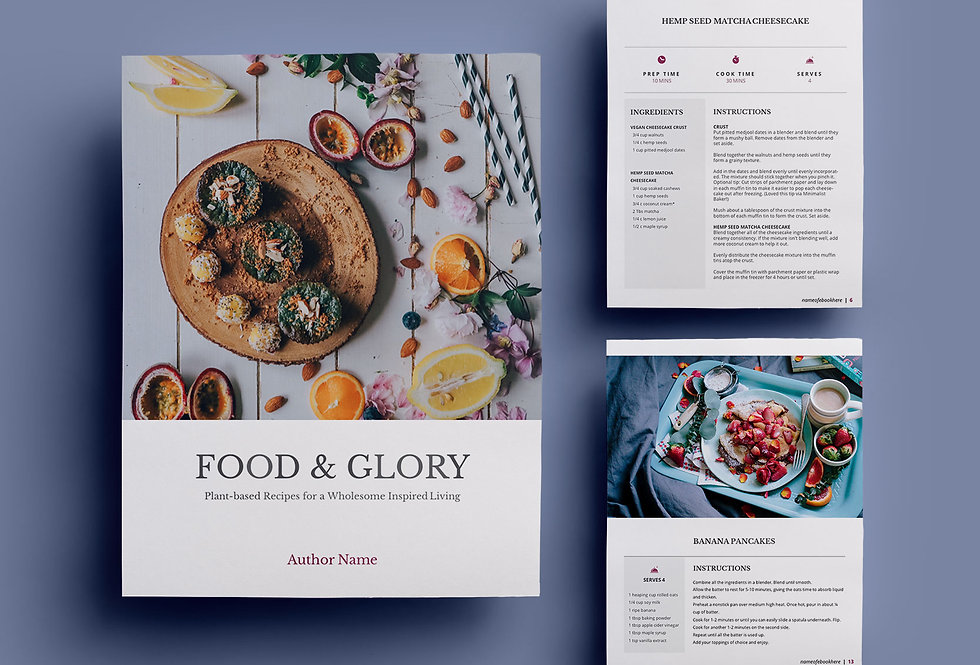 R1 • RECIPE EBOOK TEMPLATE