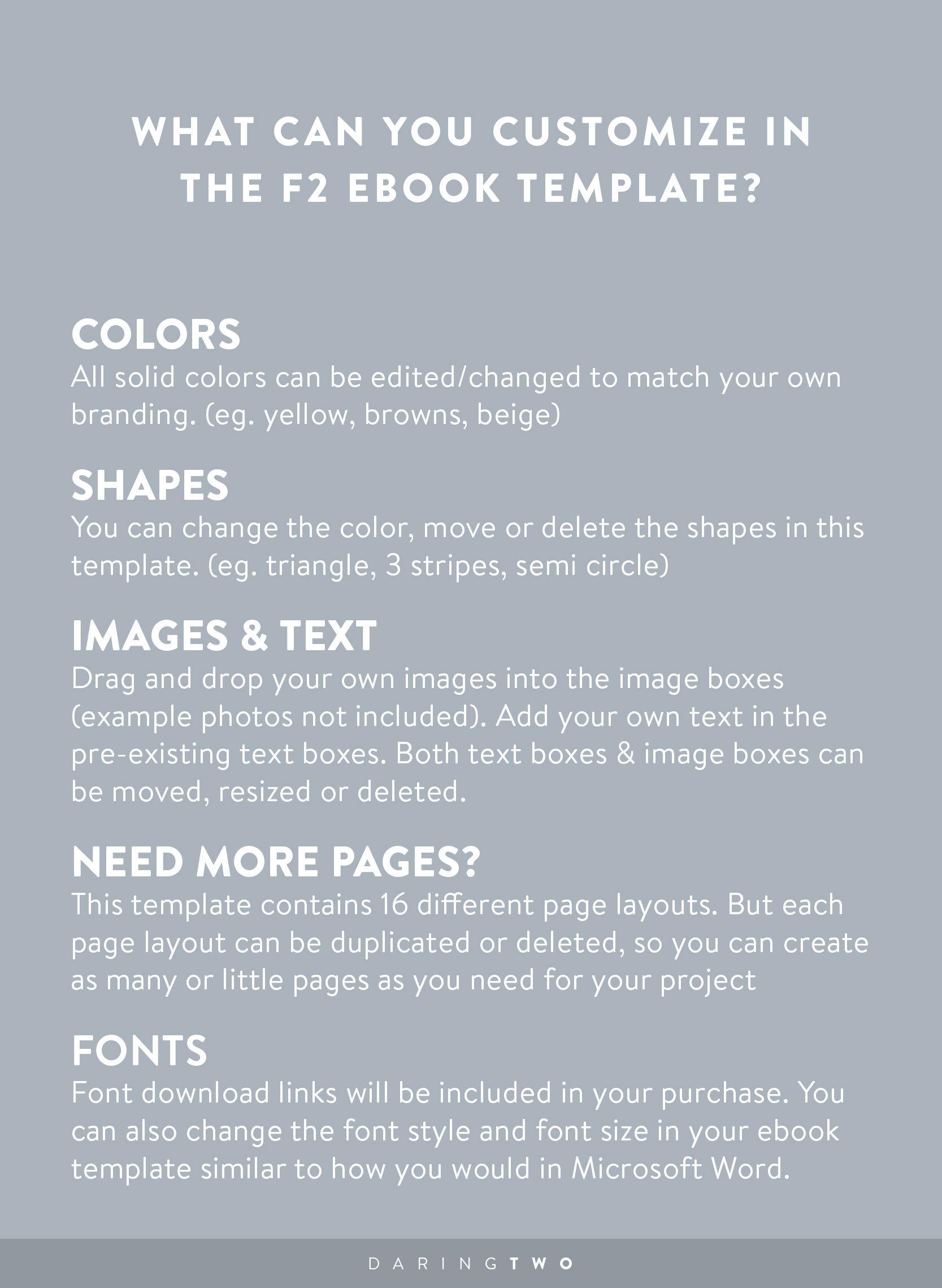F2 Fitness Ebook Template