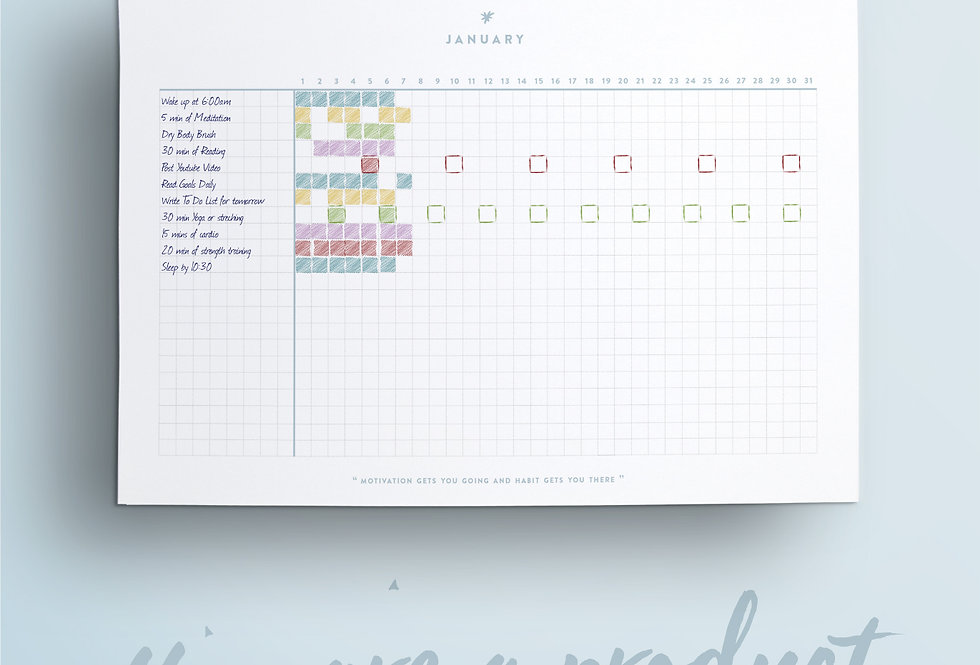 Monthly Habit Tracking