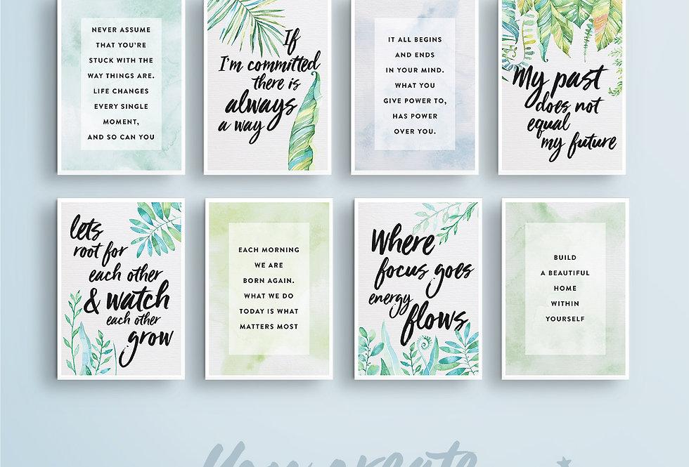 Grow Pack - Vision Board Card Printables