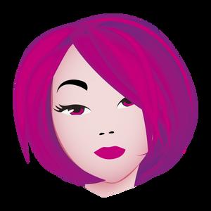 Ambiance Coiffure Visagiste Girl : Purple Hair