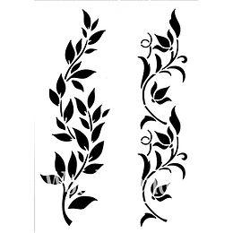 """Hollywood and Vine"" - 21x30 cm Posh Chalk Stencil"