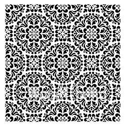 """""""Kaleidoscope"""" - 50x50 cm - Posh Chalk Stencil"""
