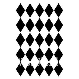"""Harlequin"" - 21x30 cm Posh Chalk Stencil"
