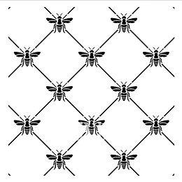 """Bee Poshitive"" - 30x30 cm Posh Chalk Stencil"