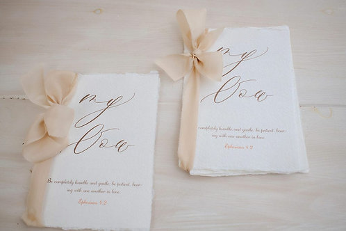 VOW BOOKS - SET OF 2