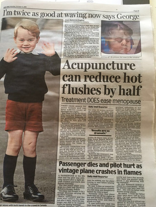 Acupuncture Can Reduce Hot Flushes by Half