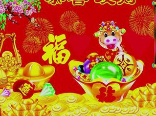 HAPPY CHINESE NEW YEAR!祝您牛年🐂健康、平安、快乐!