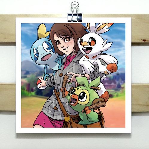 Sword & Shield - Square Print