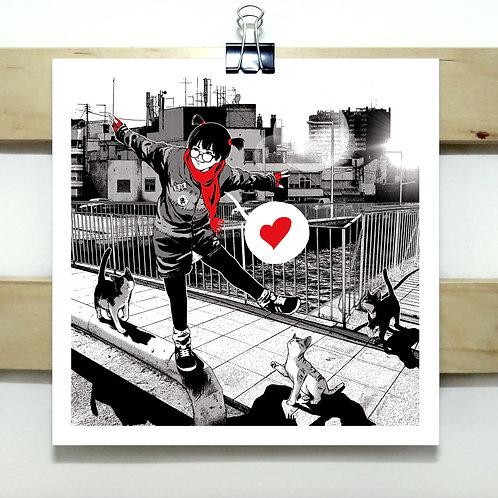 Cats v2 - Square Print