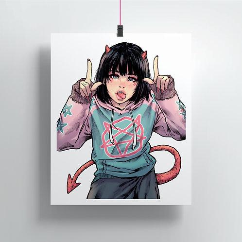 Cute demon Print