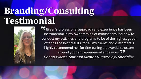 BrandingConsulting Testimonial - Donna W