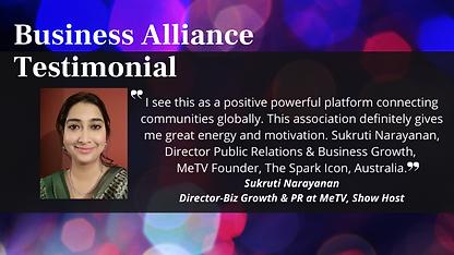 _Business Alliance Testimonial - Sukruti