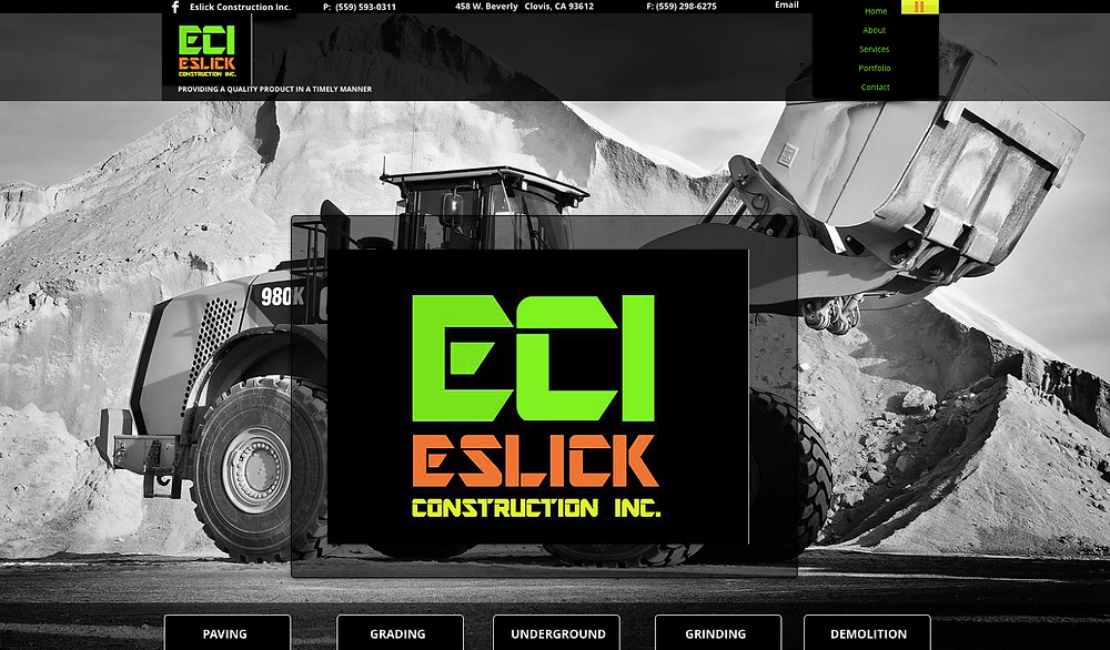 Eslick Construction - Clovis Website Design