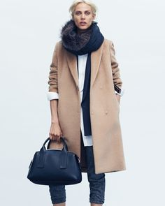 Trench Coat and Scarf