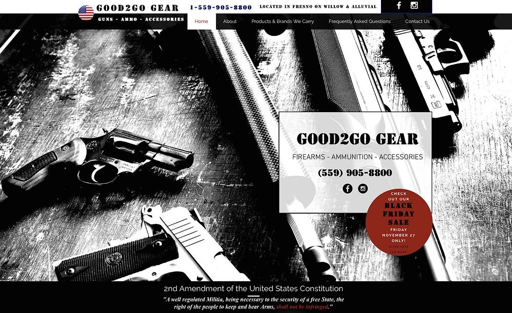 Fresno Website Design - Fresno Web Design - Custom Website Design - Gun Store Website Design - Firearms Website Design