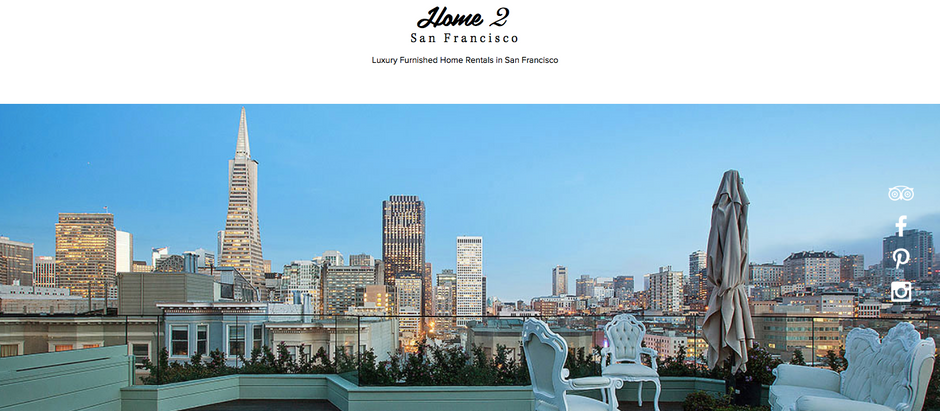 Home2San Francisco - MK Consulting Firm Client's Website - Beats AirBNB in Google Search Results