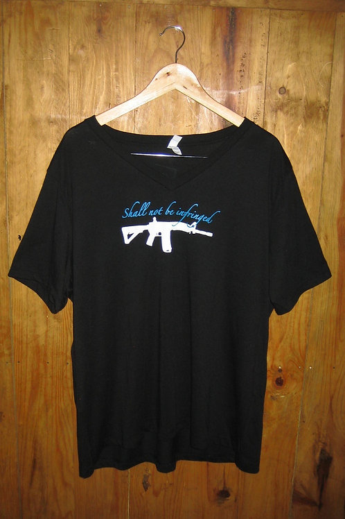 "Ladies V-Neck ""Shall Not Be Infringed"" Shirt"