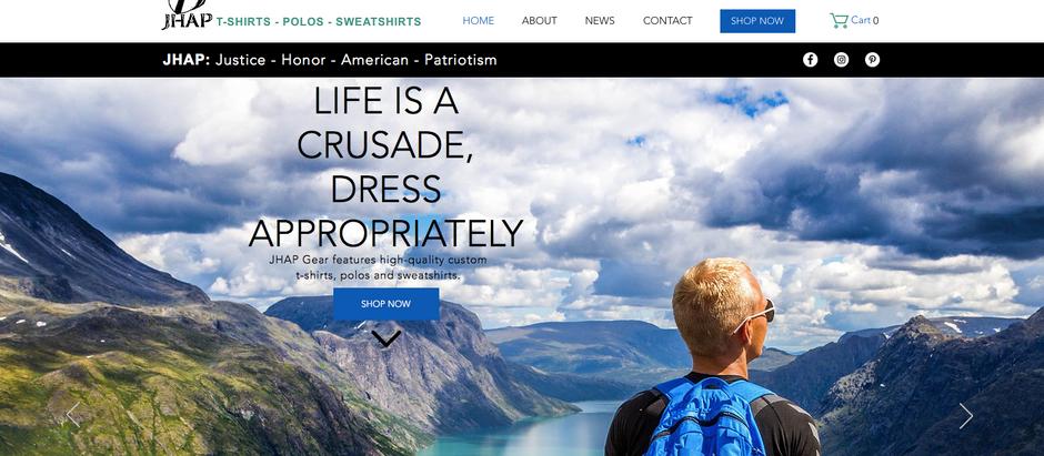 JHAP Gear - Custom Professional E-Commerce Website