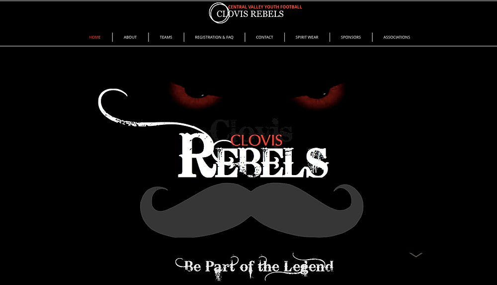 Clovis Rebels - Clovis Website Design
