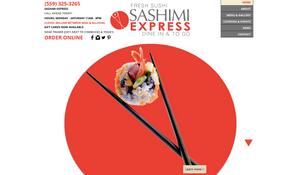 Sashimi Express - Fresno Website Design - Clovis Website Design