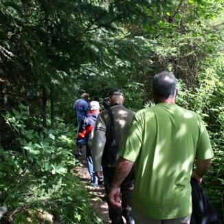 Alaskan trail...and a black bear encounter!