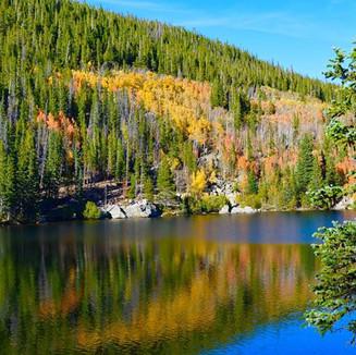 Autumn reflection at Bear Lake, Rocky Mountain National Park