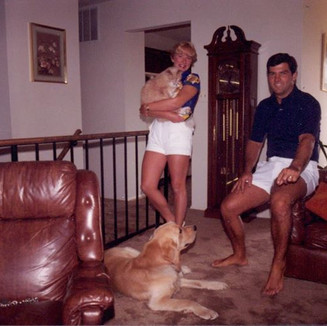 Young, tan and with our first children! August 1980
