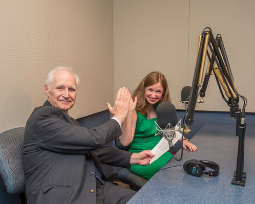 With VP of the Delaware County Symphony William Conville at the WRTI Radio Station