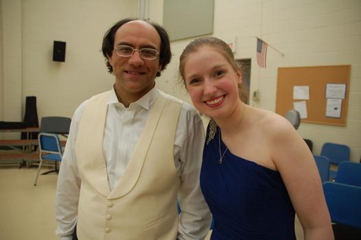 With Conductor Simeone Tartaglione following Grieg Piano Concerto