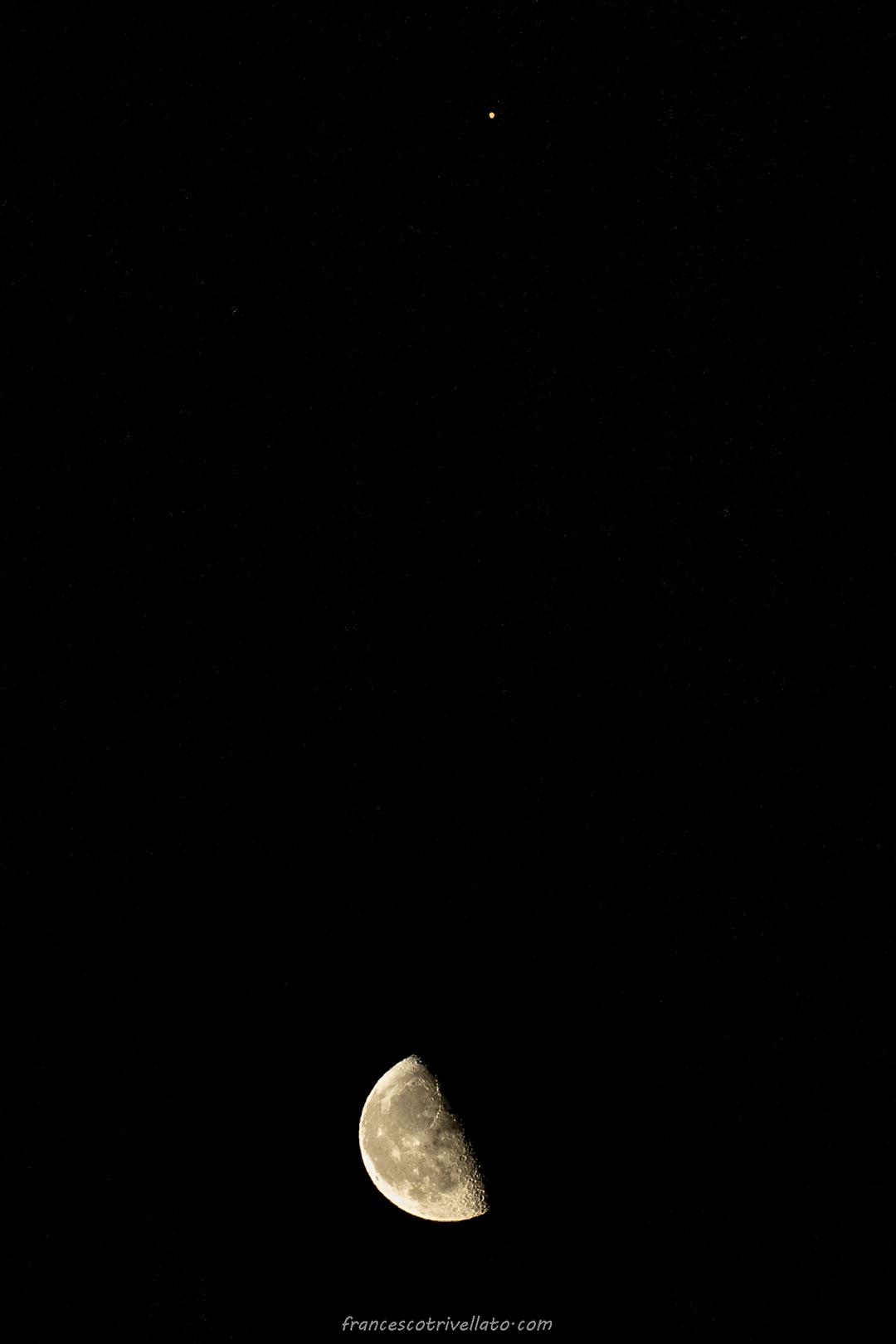 Congiunzione Luna Marte 2020