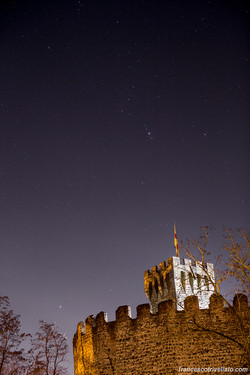 Orione sopra il Castello Carrarese