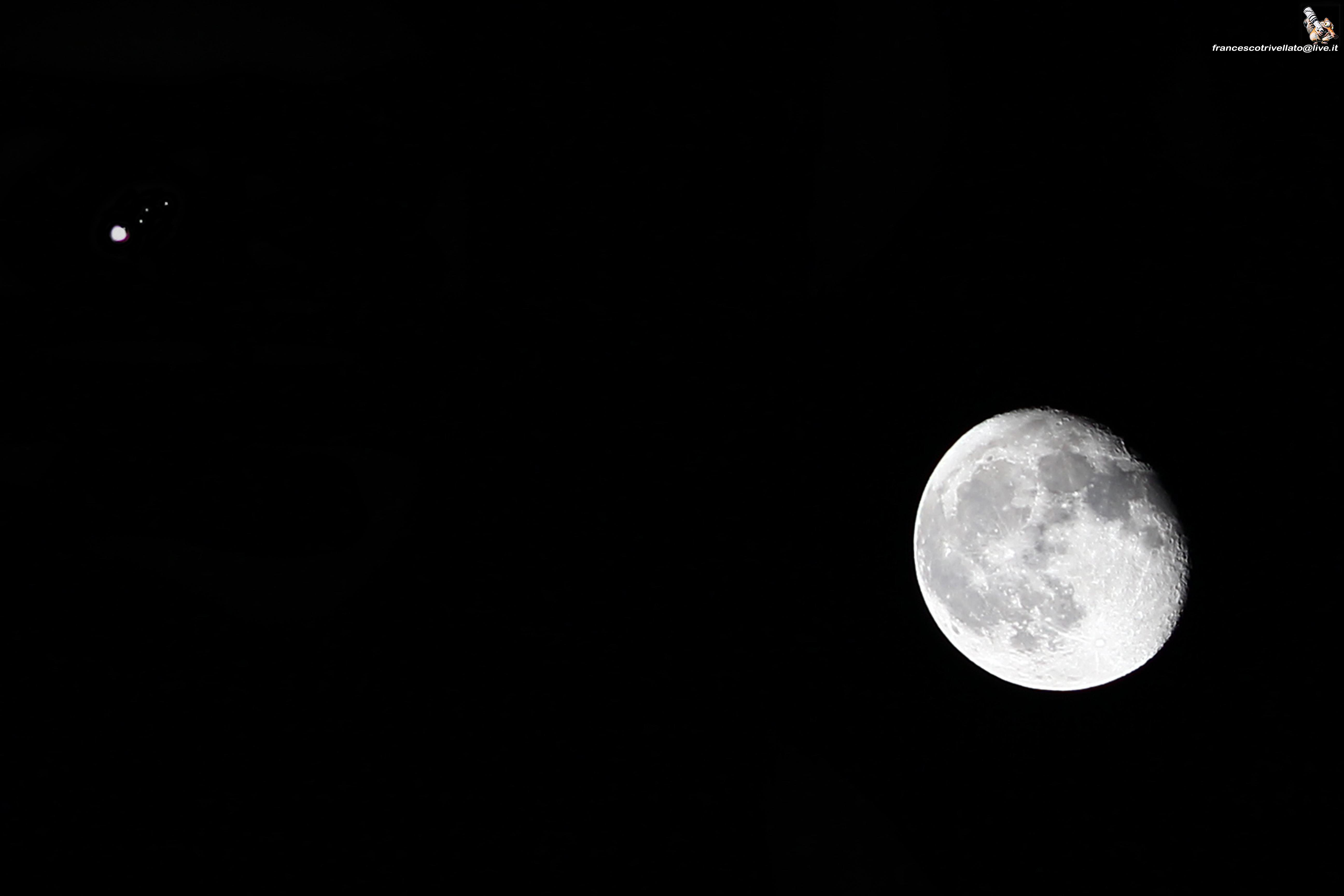 Luna, Giove e i suoi satelliti