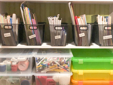 Kids craft storage, art supply