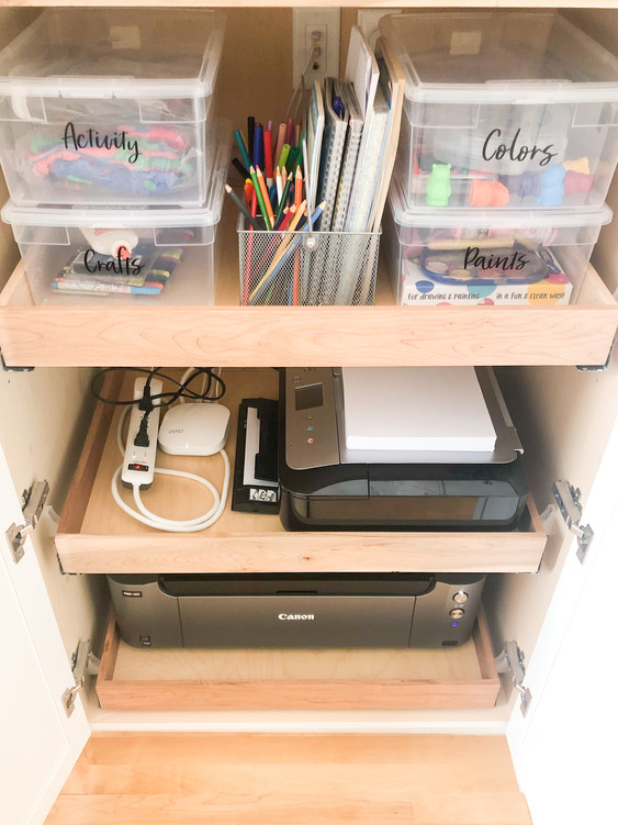 Home office, craft, toy organization