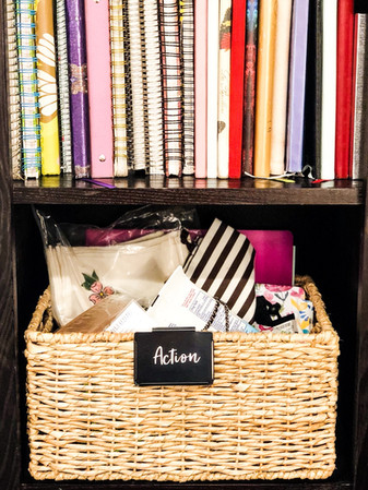 Journals, action items in home office