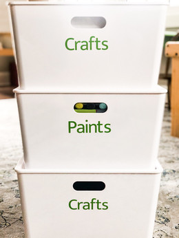 Craft and art supply storage