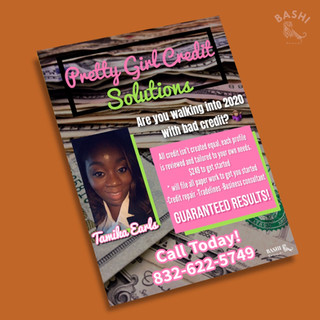 Pretty Girl Credit Solutions Flyer