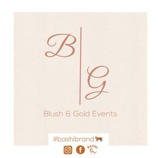 Blush & Gold Events Logo