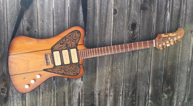 "Guitar Wood Experts, Non-Reverse Custom 3 Pickup Swamp ash body with roasted maple neck & fretboard.  Custom, one off leather pick-guard and copper TTG bridge, hand wound TTG ""Pure Juice"" pickups  and Hipshot tuners The Specs Don't Really Matter Since We Can Do Whatever You Want"